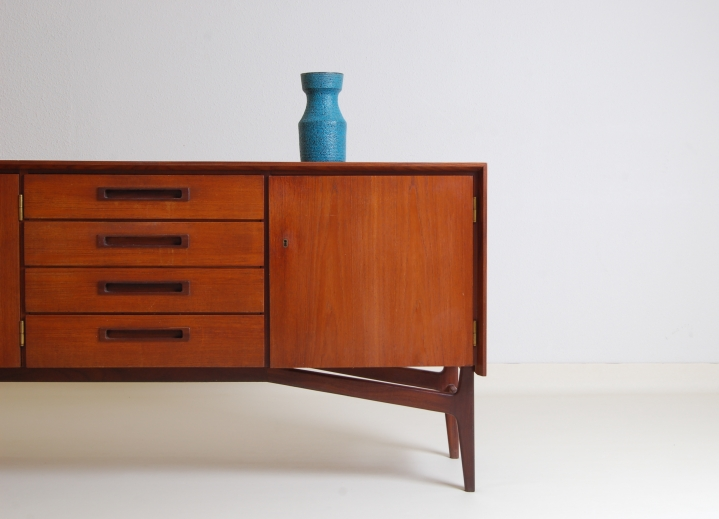 Danish Design Credenza : Sideboard credenza webe fifties danish italian teak inspired