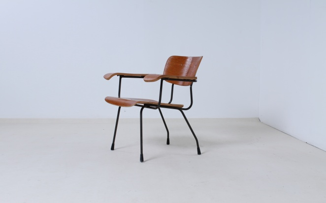 Pilastro Chair Tjerk Reijenga 8000 Teak Plywood Design Chair Dutch Fifties  Furniture 1